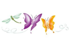Pochoirs & frises papillons
